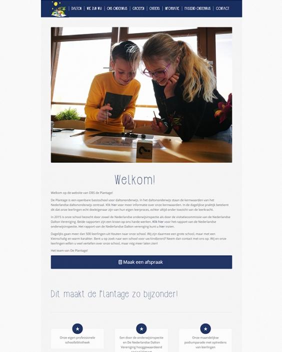 Schoolwebsite - OBS De Plantage