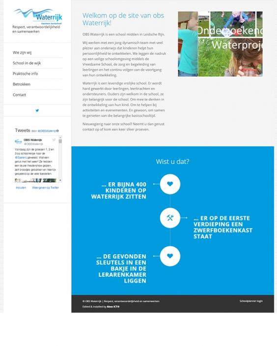 Schoolwebsite - OBS Waterrijk