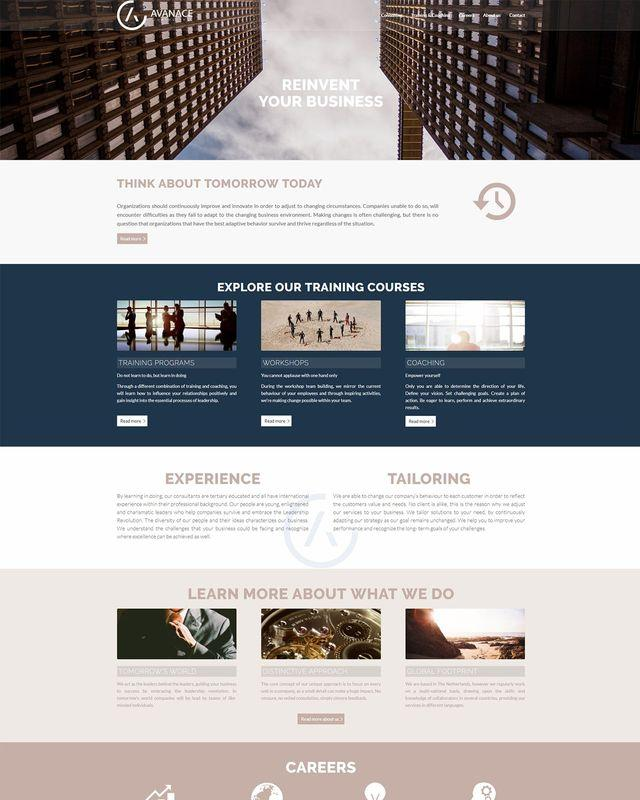 avanace professionele website